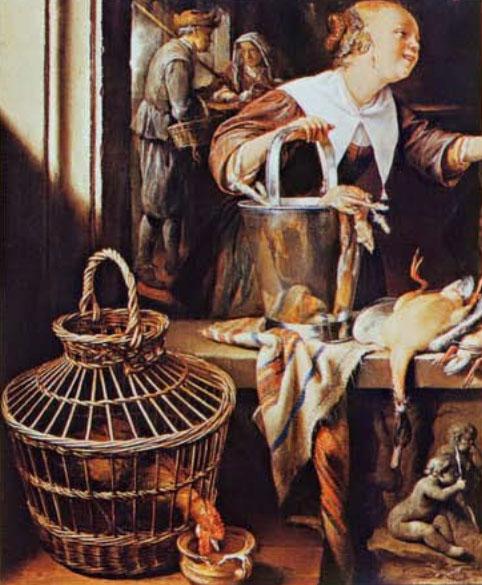 Толмачева Н.А. - Плетение из лозы: Техника. Приемы. Изделия. Геррит Доу. У торговки дичью. Ок. 1640