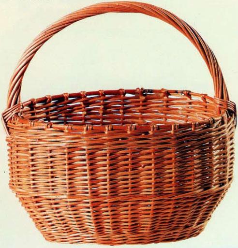 Толмачева Н.А. - Плетение из лозы: Техника. Приемы. Изделия. Однообручевая корзина