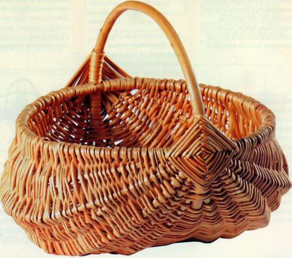 Толмачева Н.А. - Плетение из лозы: Техника. Приемы. Изделия. Двухобручевая корзина (белорусская)