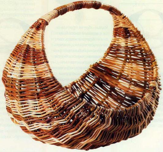 Толмачева Н.А. - Плетение из лозы: Техника. Приемы. Изделия. Трехобручевая корзина (дамская сумка)