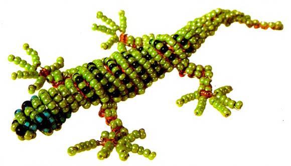 Плетем крокодила, ящерицу и кобру из бисера Плетение.